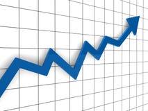 3d blauw van de grafiekpijl Royalty-vrije Stock Afbeeldingen