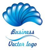 3D blauw ventilatorembleem Royalty-vrije Stock Afbeeldingen