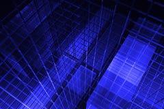 3D blauwe achtergrond Stock Afbeelding