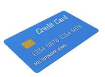 3d Blauwe creditcard Stock Foto's