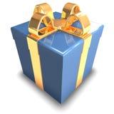 3D blauwe Gift Royalty-vrije Stock Foto's
