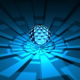 3D blauwe globaal Royalty-vrije Stock Afbeelding