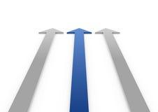 3d blauwe grijze hoge pijlen Royalty-vrije Stock Foto