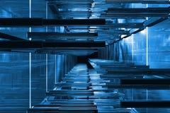 3D blauwe ruimte Stock Afbeeldingen