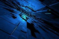 3D blauwe ruimte Stock Fotografie