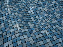 3d blauwe wobble de vloeroppervlakte van de mozaïektegel Royalty-vrije Stock Foto's