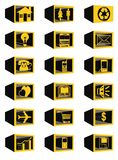 3D block web icons Royalty Free Stock Photography