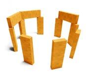 3d blockerar träkreativitetgyckel Arkivfoton
