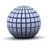 3d blocks. 3d round blocks representing communications and networks stock illustration