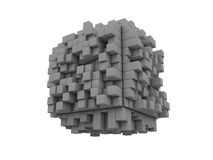 3D blocks. 3D Blocks, white background. Clipping path is included Stock Photography