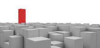 3D Blocks Stock Photo