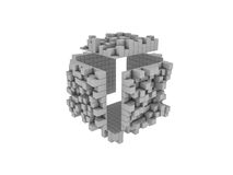 3D blocks. 3D Blocks, white background. Clipping path is included Stock Image