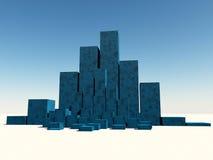 3D Blocks Stock Images
