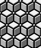 3d blocks seamless pattern Royalty Free Stock Images