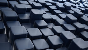 3d blockt abstraktes Hintergrundblau Lizenzfreies Stockbild