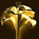 3d bloemachtergrond Stock Afbeeldingen