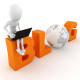 3d blog concept. On white background Royalty Free Stock Image