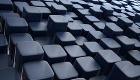3d blokken abstract blauw als achtergrond Royalty-vrije Stock Afbeelding