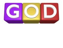 3D Blokken van het Stuk speelgoed (God) Stock Foto's