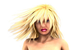 3d Blond haired girl Royalty Free Stock Images