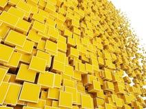 3d bloque des cubes illustration de vecteur