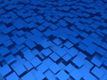 3d blue area background cube Stock Images