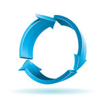 3D blue arrows. For your business presentation Royalty Free Stock Image