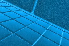 3D blue background. 3D blue space available for background Stock Photography