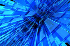 3D blue background. 3D blue perspective space available for background Royalty Free Stock Images