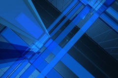 3D blue background. 3D blue space available for background Royalty Free Stock Images