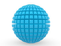 3d blue ball Stock Photos