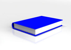 3d blue book isolated on white. Background Stock Images
