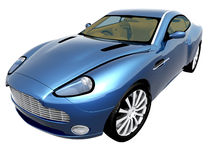 3d blue car Royalty Free Stock Image