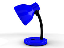 3d blue desk lamp. Illustration of 3d blue desk lamp Royalty Free Stock Image