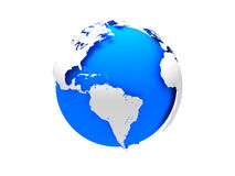 3D blue Earth. 3D rendering concept of planet Earth Royalty Free Stock Photo