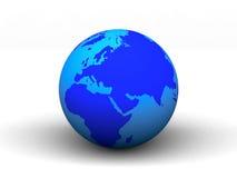 3D blue earth.  Royalty Free Stock Photos