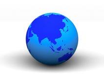 3D blue earth.  Stock Photo