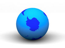 3D blue earth Royalty Free Stock Photography