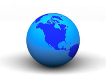 3D blue earth.  Royalty Free Stock Photo