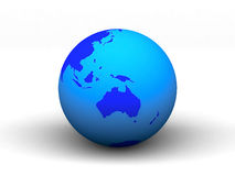3D blue earth Stock Image