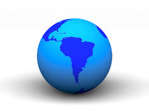3D blue earth.  Royalty Free Stock Photography