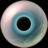 3d Blue Eyeball Stock Photography