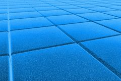 3D blue floor Royalty Free Stock Photos