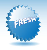 3D blue fresh badge. Royalty Free Stock Photo