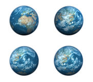 3d blue globe array Royalty Free Stock Photos
