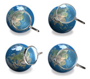3d blue globe array Stock Image