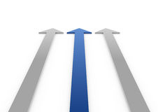 3d blue gray arrows high Royalty Free Stock Photo