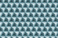 3d blue metallic cubes background. Abstract pattern Royalty Free Stock Image