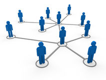 3d blue network team. 3d blue social network community men team Royalty Free Stock Images