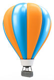 3d blue and orange balloon Stock Images